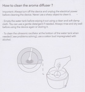 anton diffuser cleaning instructions from the manual