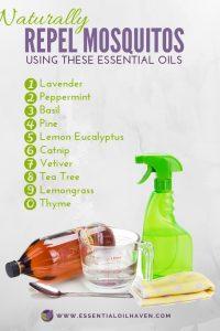 essential oils that repel mosquitos