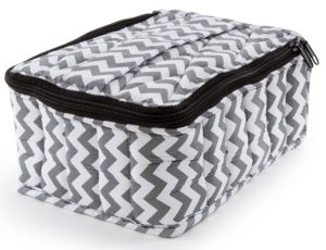 plant therapy essential oils carrying case grey chevron