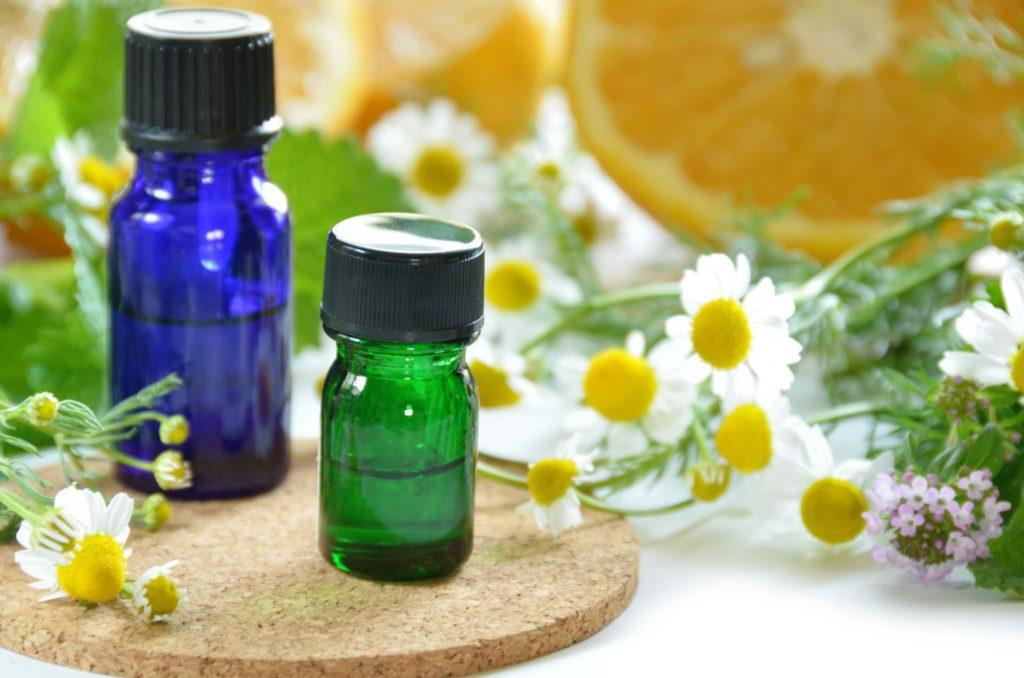 essential oils bottles