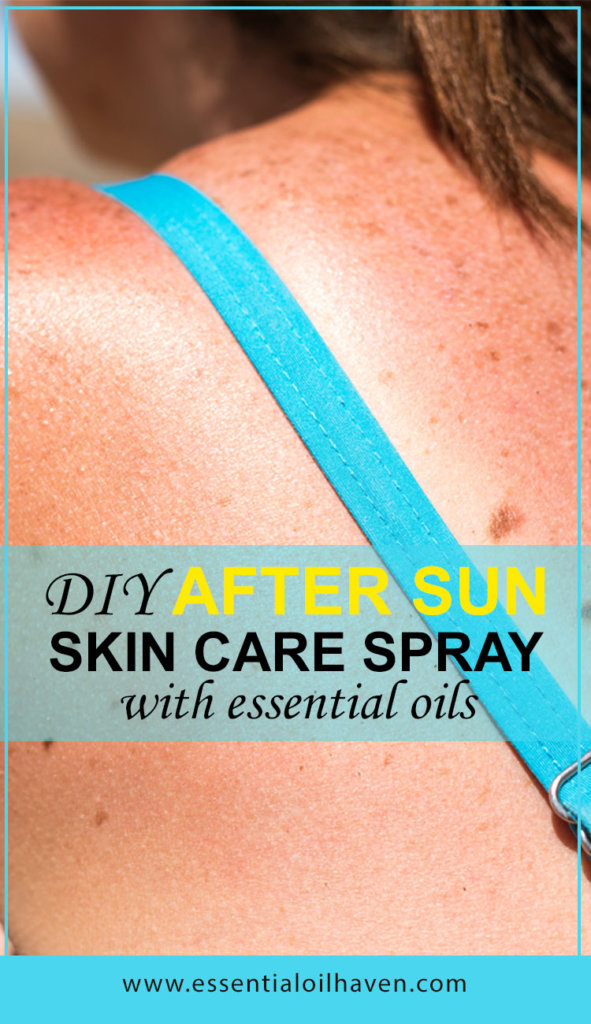DIY after sun skin care spray with essential oils