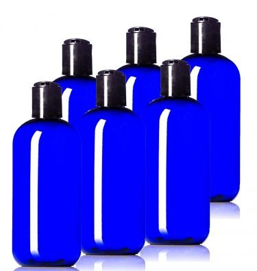 cobalt blue squeeze bottles for essential oil products
