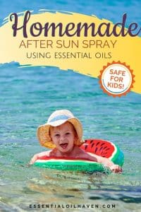 kid safe natural homemade DIY sunburn lotion