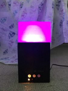 essential oil diffuser in dark bamboo