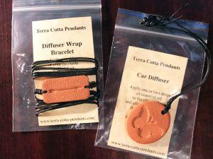 Terra Cotta Diffuser Wrap Bracelet
