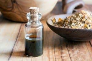 myrrh essential oil bottle
