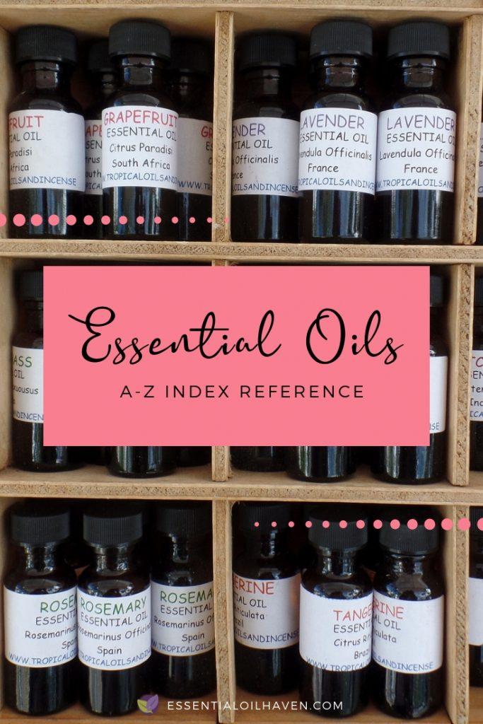 Essential Oils Index A-Z