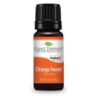 orange essential oil bottle