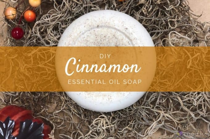 DIY Cinnamon Essential Oil Bar Soap