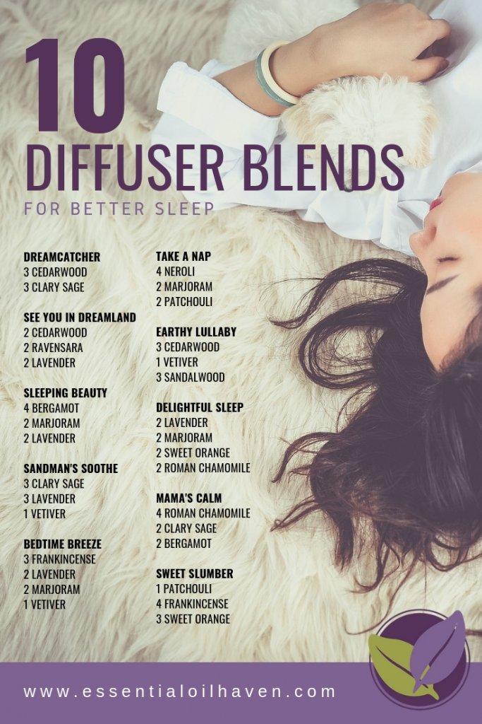 10 Fantastic Diffuser Blends For Better Sleep Essential Oils For Sleep