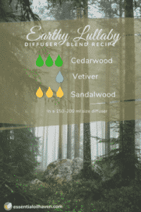Essential Oil Diffuser Blend Recipe for Better Sleep: Earthy Lullaby