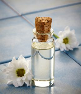 Bottle of essential oils for aromatherapy