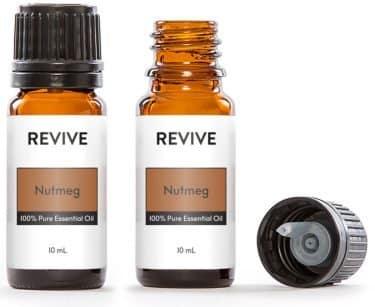 Nutmeg essential oil bottles
