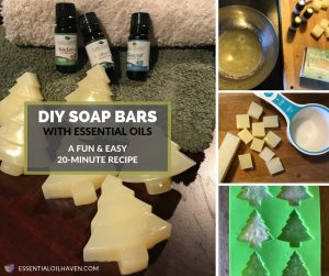 DIY essential oil soap recipe for holiday gifts or stocking stuffers