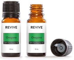 bottle of oregano essential oil