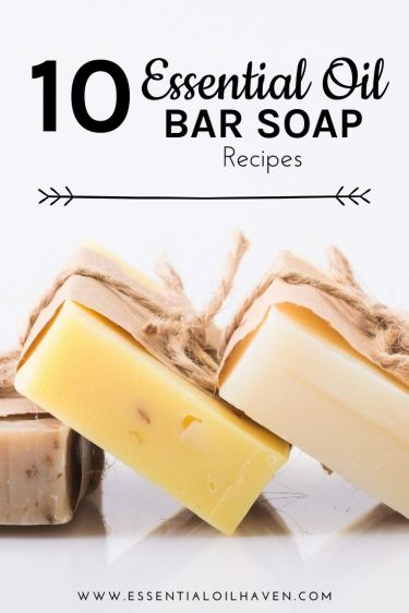 natural bar soap recipes with essential oils