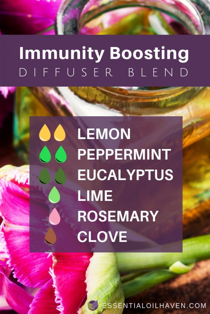 Essential oil diffuser recipe to boost your immune system