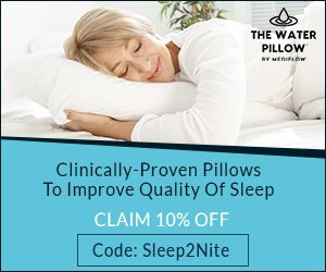Get 10% off The Water Pillow by Mediflow
