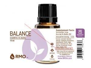 RMO balance essential oils blend