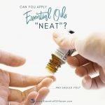 Using essential oils neat