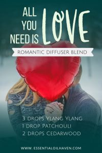 romantic essential oils diffuser blend
