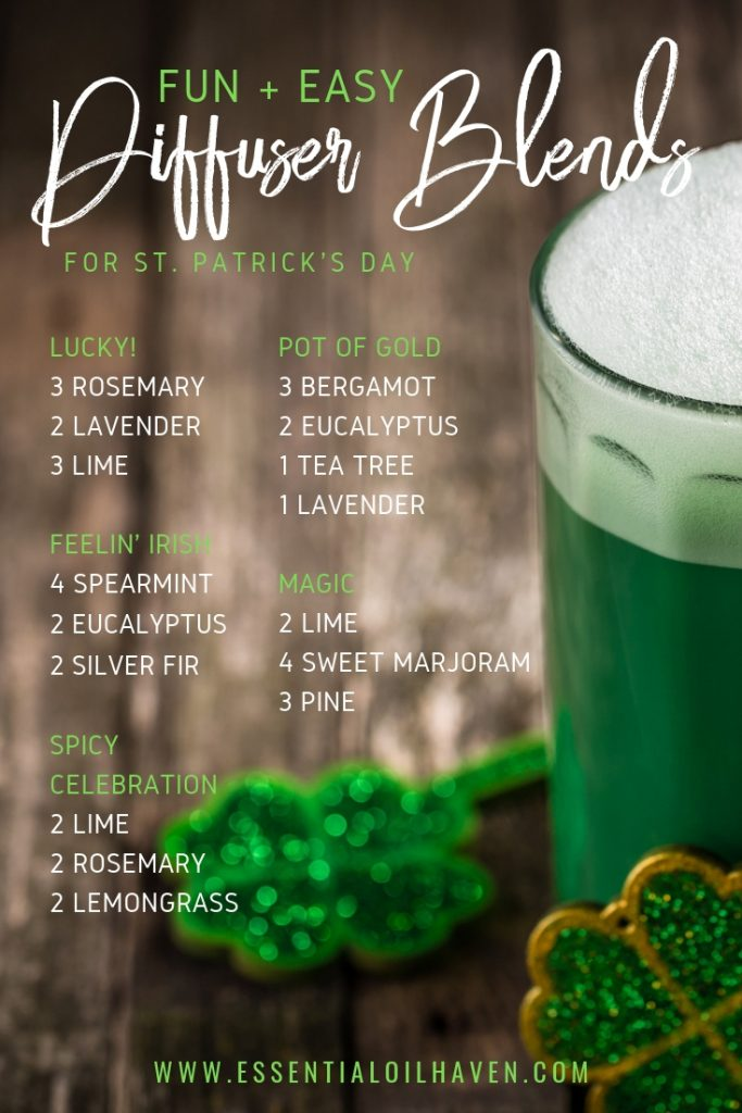 diffuser blends for St. Patrick's Day