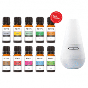 REVIVE essential oils starter kit with diffuser