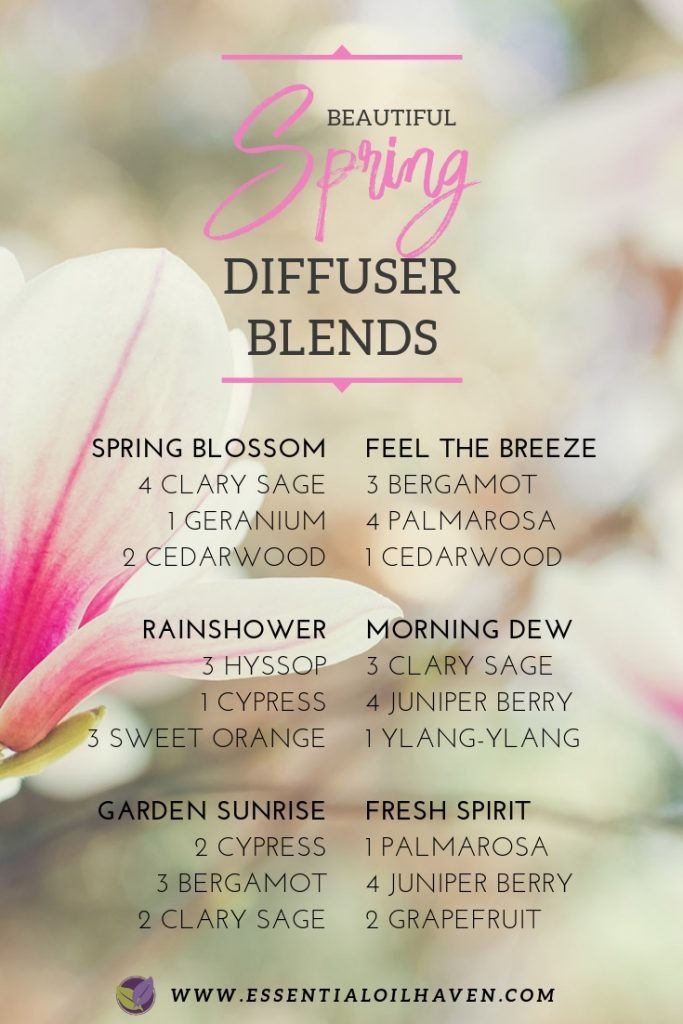 6 Fresh + Inspiring Spring Essential Oil Diffuser Blend Recipes