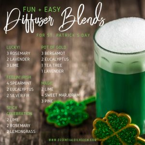5 Fun and Easy Diffuser Blend Recipes for St. Patrick's Day