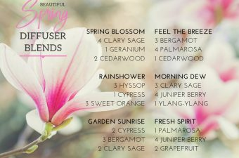Essential Oil Diffuser Blends for Spring