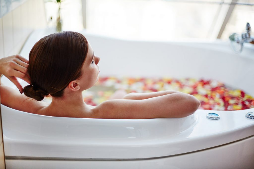woman in big bath tub