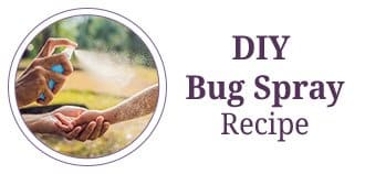 DIY bug spray recipe with essential oils for mosquitos