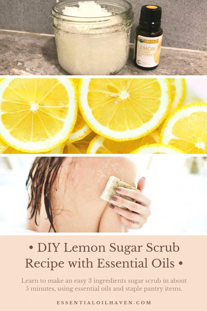 DIY Lemon Sugar Scrub Recipes (with Essential Oils