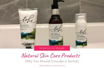 essential oil infused natural skin care products
