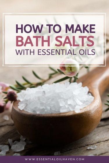 how to make essential oil bath salts