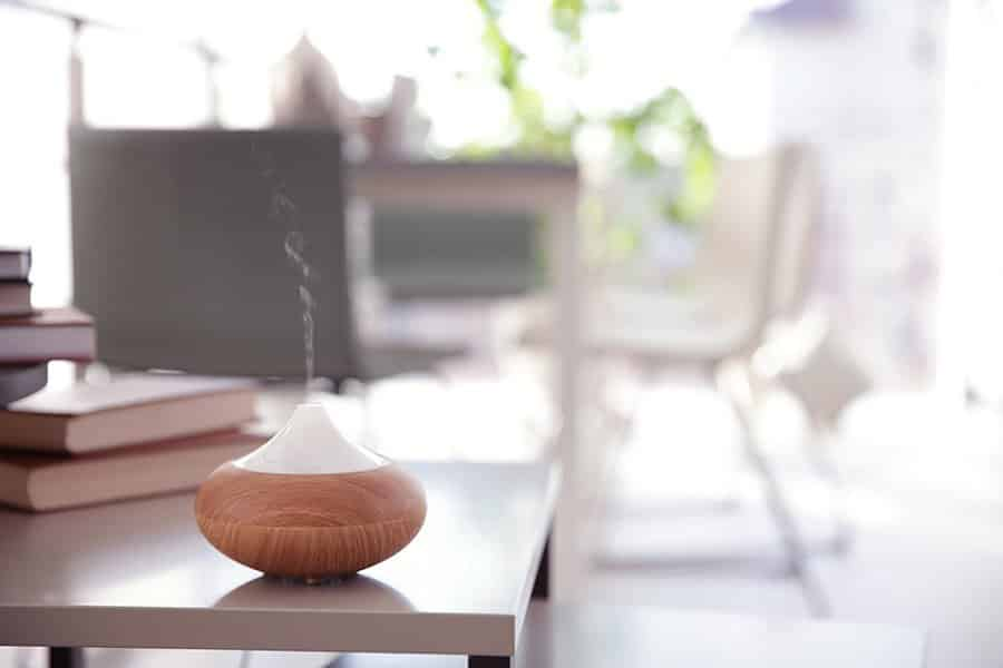 aromatherapy diffuser in home office