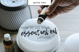 using your aromatherapy diffuser