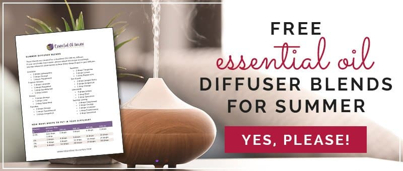 Free Printable Summer Diffuser Blends