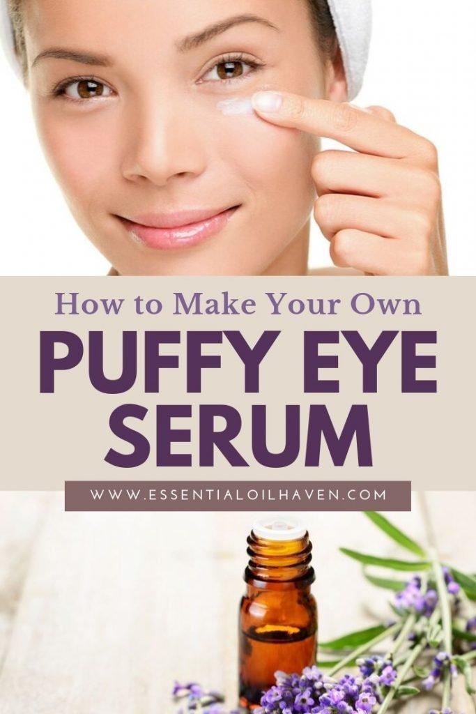 DIY under eye serum with essential oils