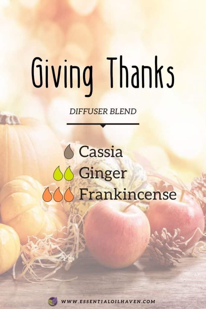 thanksgiving diffuser blend