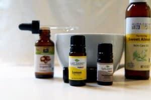 under eye serum using lemon essential oil