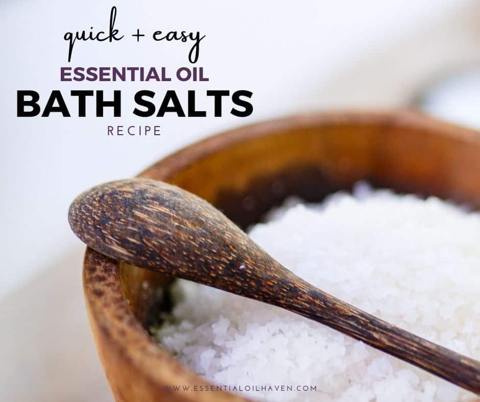 how to make essential oil bath salts