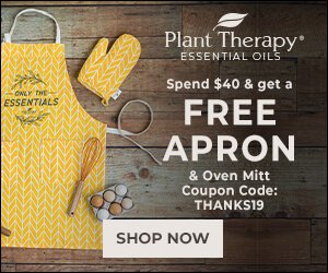 Happy Thanksgiving from Plant Therapy! Get a FREE Apron and FREE Oven Mitt with your $40 Purchase, Now Through 11/22 ONLY. Use Code: THANKS19