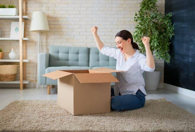 receiving amazon online shopping