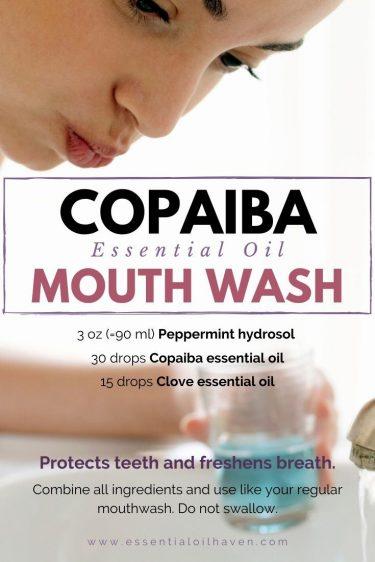 copaiba essential oil diy mouth wash recipe