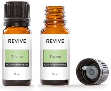 thyme essential oil bottles