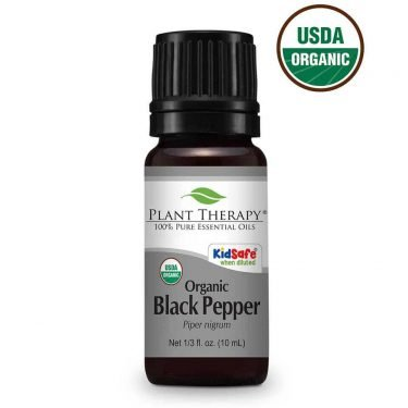 black pepper essential oil 10 ml bottle