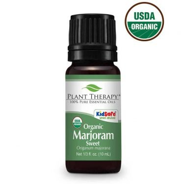 organic sweet marjoram essential oil 10ml bottle