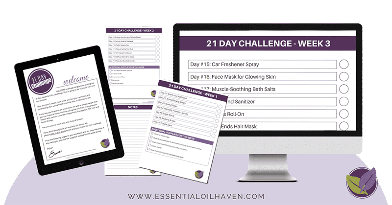 essential oil challenge workbook
