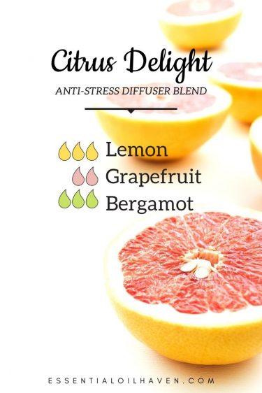 de-stress diffuser blend citrus delight